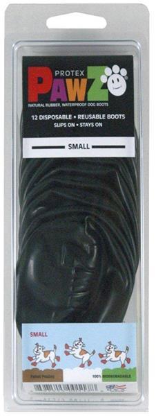 Botičky ochranné PAWZ vel. S (balení 12ks) černé