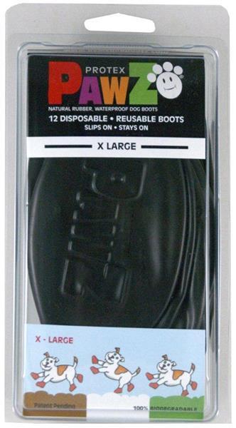 Botičky ochranné PAWZ vel. XL (balení 12ks) černé