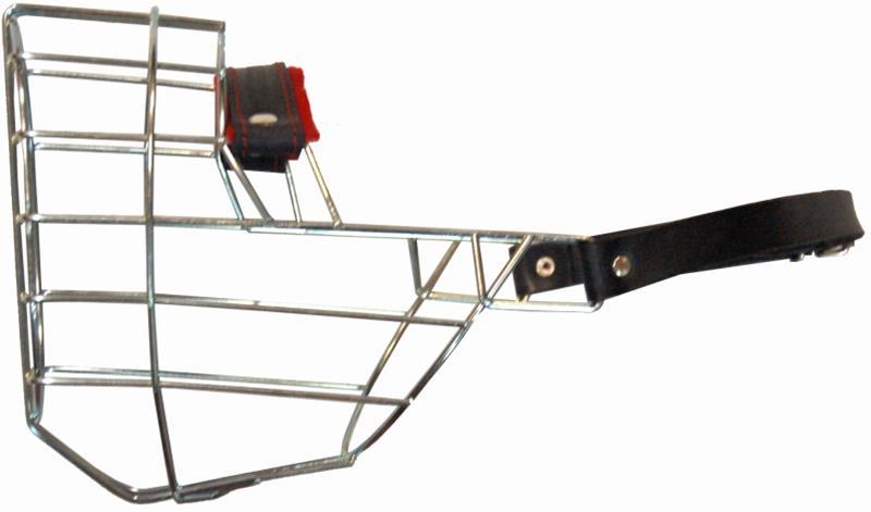 Náhubek kovový Rotwailer - fena, chrom 130 x 150 x 105 mm
