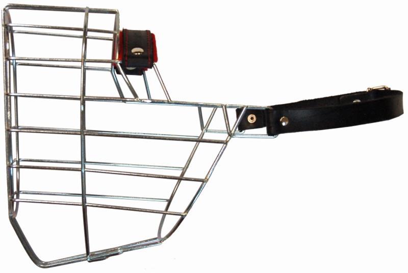 Náhubek kovový Rotwailer - pes, chrom 140 x 160 x 120 mm