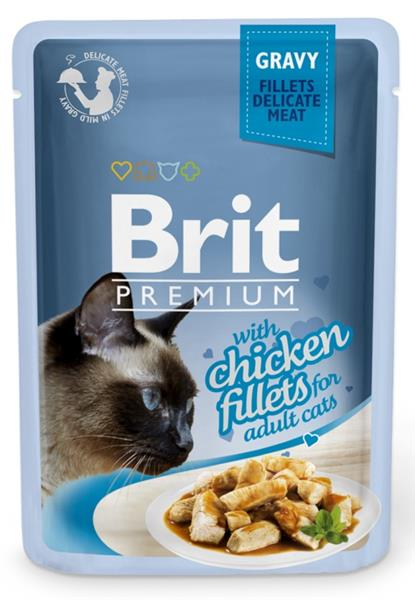 Brit Premium Cat kaps. Delicate Fillets in Gravy with Chicken 85 g