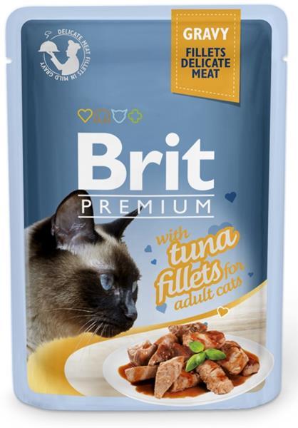 Brit Premium Cat kaps. Delicate Fillets in Gravy with Tuna 85 g