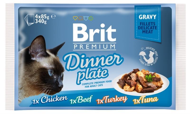 Brit Premium Cat kaps. -Gravy Dinner Plate 340 g (4x85 g)