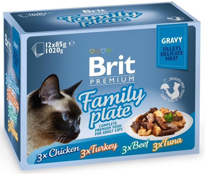 Brit Premium Cat kaps. -Gravy Family Pl. 1020 g (12x85 g)
