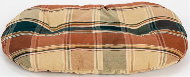Polštář ovál textil Relax hnědé káro 80 cm