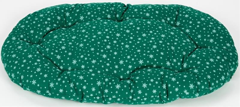 Polštář ovál bavl. Vločka zelený 100 cm