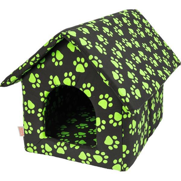 Bouda bavl.Tlapa černo/zelená 40 x 50 cm