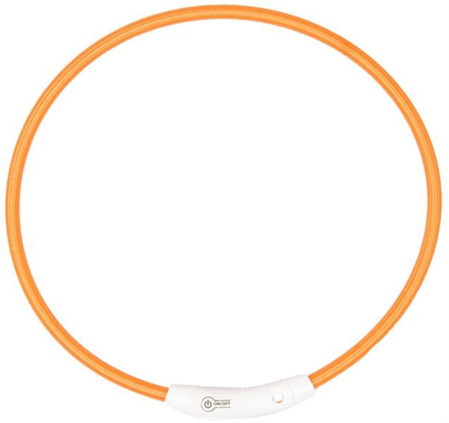 Obojek nylon svítící oranžový DUVO+ 45 cm