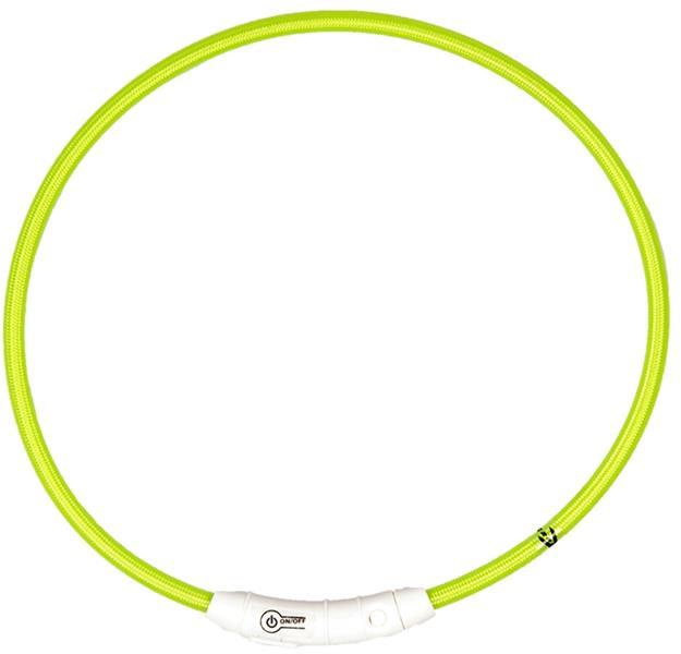 Obojek nylon svítící zelený DUVO+ 35 cm