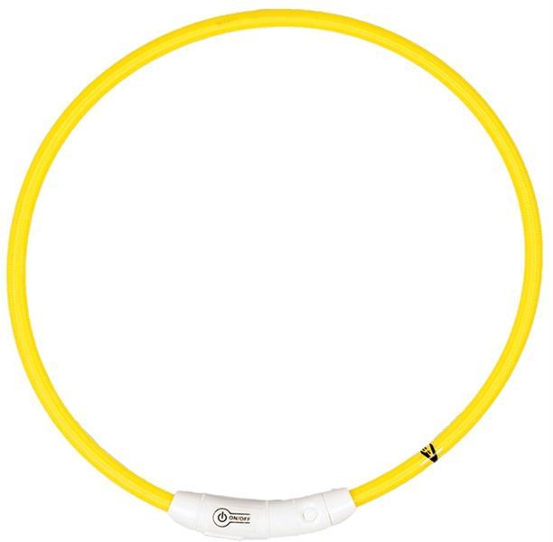 Obojek nylon svítící žlutý DUVO+ 45 cm