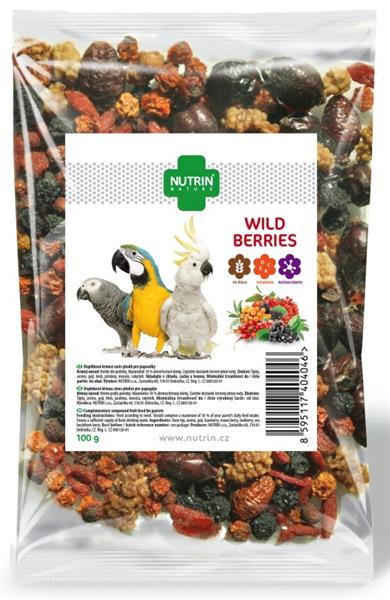 Nutrin Nature snack Wild Beries - papoušek 100g
