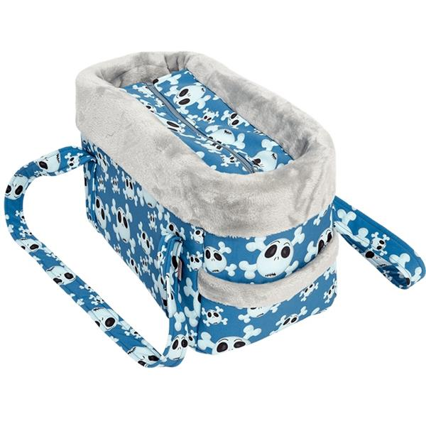 "Transp.Taška softshell "" Lebka LUX"" modrá 30 cm"