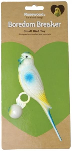 Hračka pták plast andulka se závažím, Rosewood