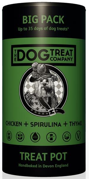 The Dog Treat Company sušenky-kuře,spirulina,tymián 125g