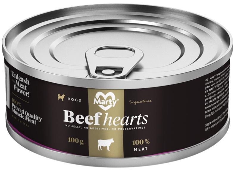 MARTY konz. pro psy Signature-hovězí srdce 100 g