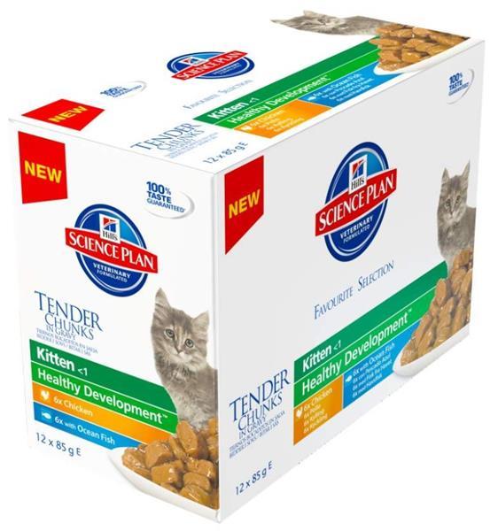 Hill's Science Plan Feline  Kitten kapsička Chicken+Ocean Fish 12x85 g NOVÝ