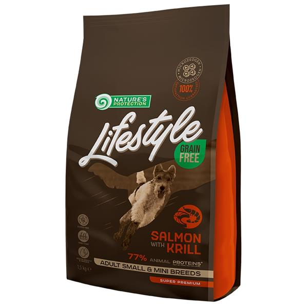 Nature's Protection Dog Dry LifeStyle GF Salmon SB 1,5 kg