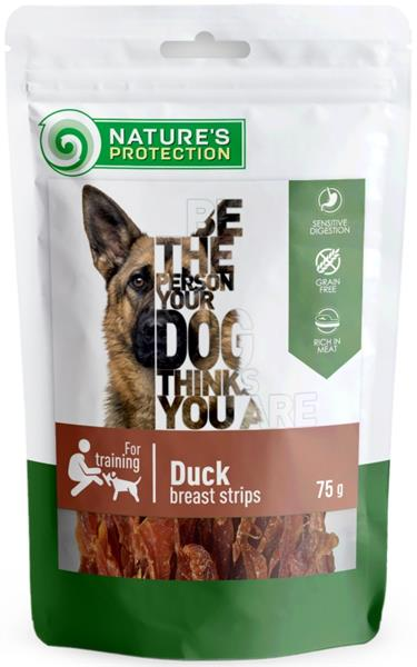 Nature's Protection Dog snack kachní proužky 75 g