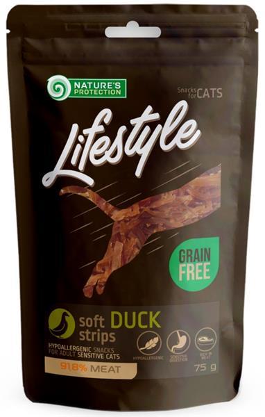 Nature's Protection Cat snack Lifestyle kachní plátky 75 g