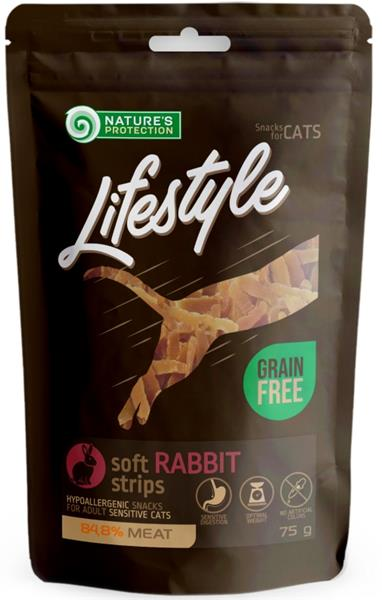 Nature's Protection Cat snack Lifestyle mini králičí plátky 75 g