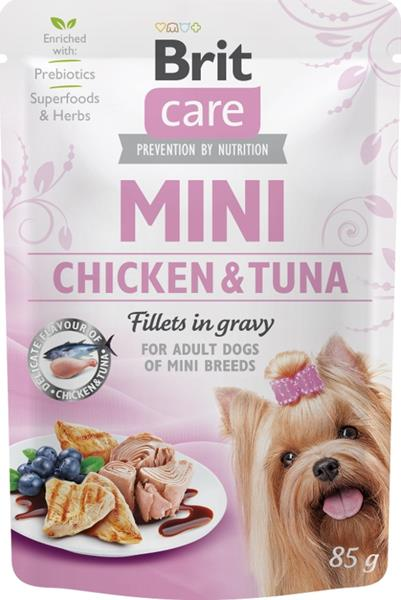 Brit Care Mini Dog kaps. Chicken&Tuna fillets in gravy 85 g