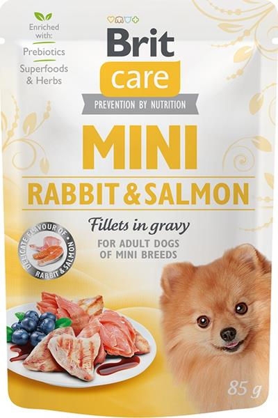 Brit Care Mini Dog kaps. Rabbit&Salmon fillets in gravy 85 g
