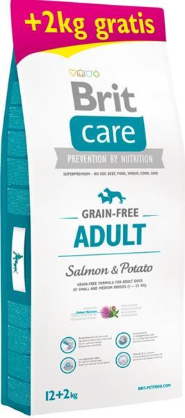 Brit Care Grain Free Dog Adult Salmon & Potato 12 kg + 2 kg zdarma
